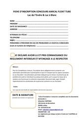 fiche inscription concours pdf
