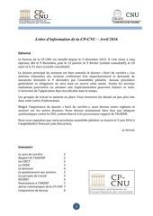 cp cnu lettre avril 2016