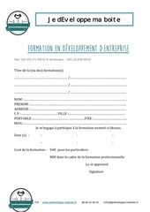 contrat d inscription web