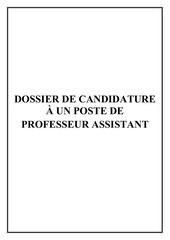 dossier de candidature khalid elhasnaoui