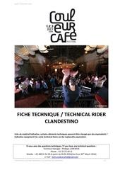 Fichier PDF technical rider clandestino cc 2016