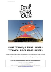 technical rider univers cc 2016