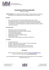 human resources internship