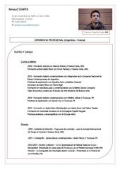 Fichier PDF rs cv
