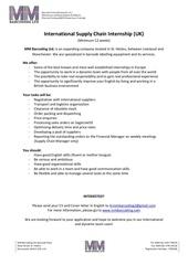 supply chain internship