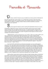 promarkes et manuscrits