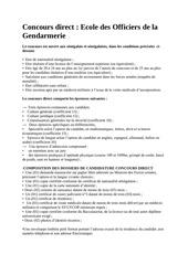 concours gendarmerie 2016
