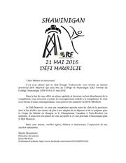 dEfi mauricie 2016