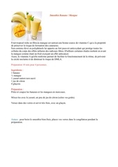 Fichier PDF smoothie banane mangue