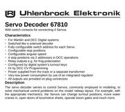 Fichier PDF uhlenbrock decodeur 67810