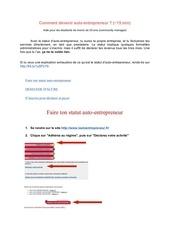 Fichier PDF autoentrepreneur accre community manager