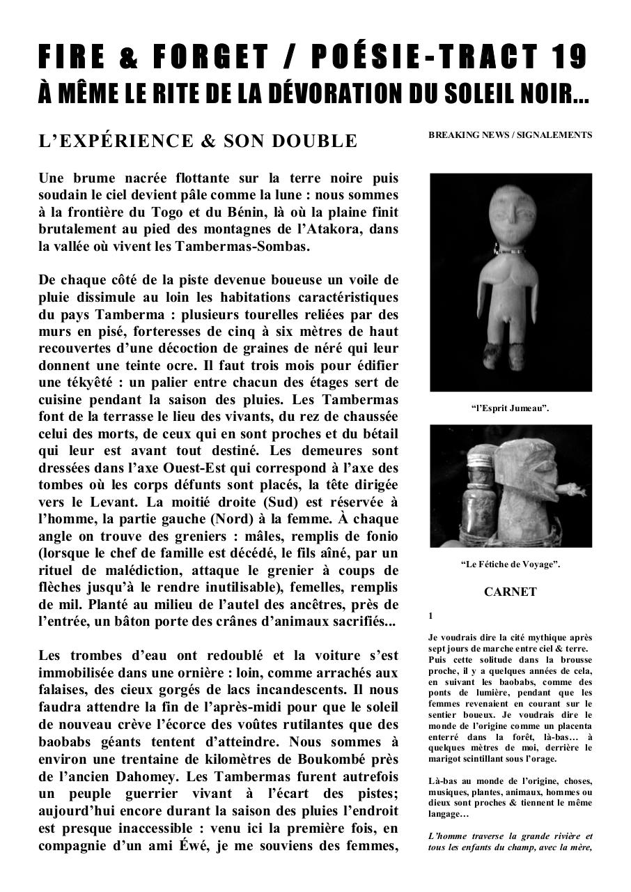 FIRE & FORGET - POÉSIE - TRACT 19.pdf - page 1/10