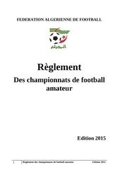reglement des championnats de football amateur