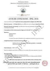 avis concours 2016