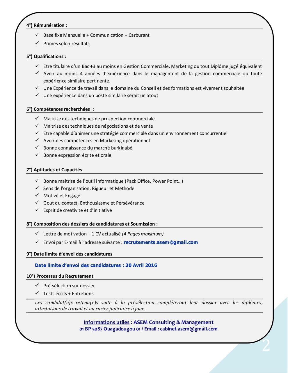 asem recrutement commercial charg u00e9 d u0026 39 affaires burkina par