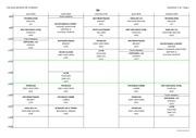 emploi du temps du 25 au 29 avril