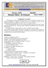 examen et corrige francais 2013 4am t3