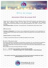 Fichier PDF offre de stage marque and co