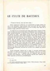 le culte de bacchus