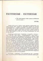 monde esotherique et xotherique