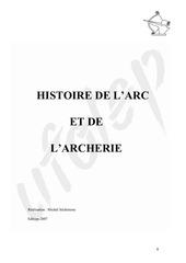histoire de l arc et de l archerie