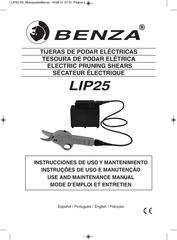 manual podadora electrica benza lip25