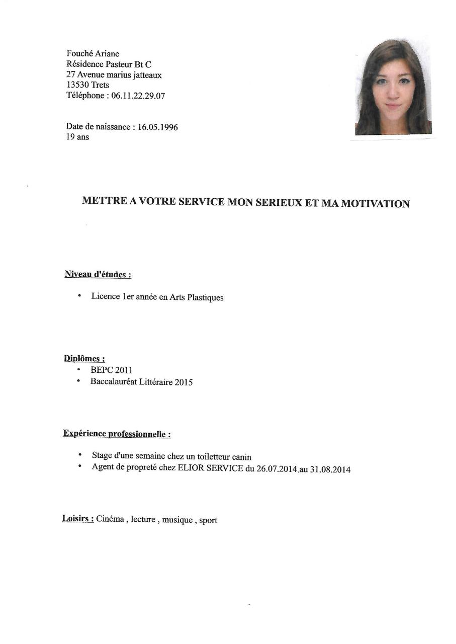 cv avec photo  cv avec photo pdf