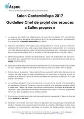 guideline chef de projet