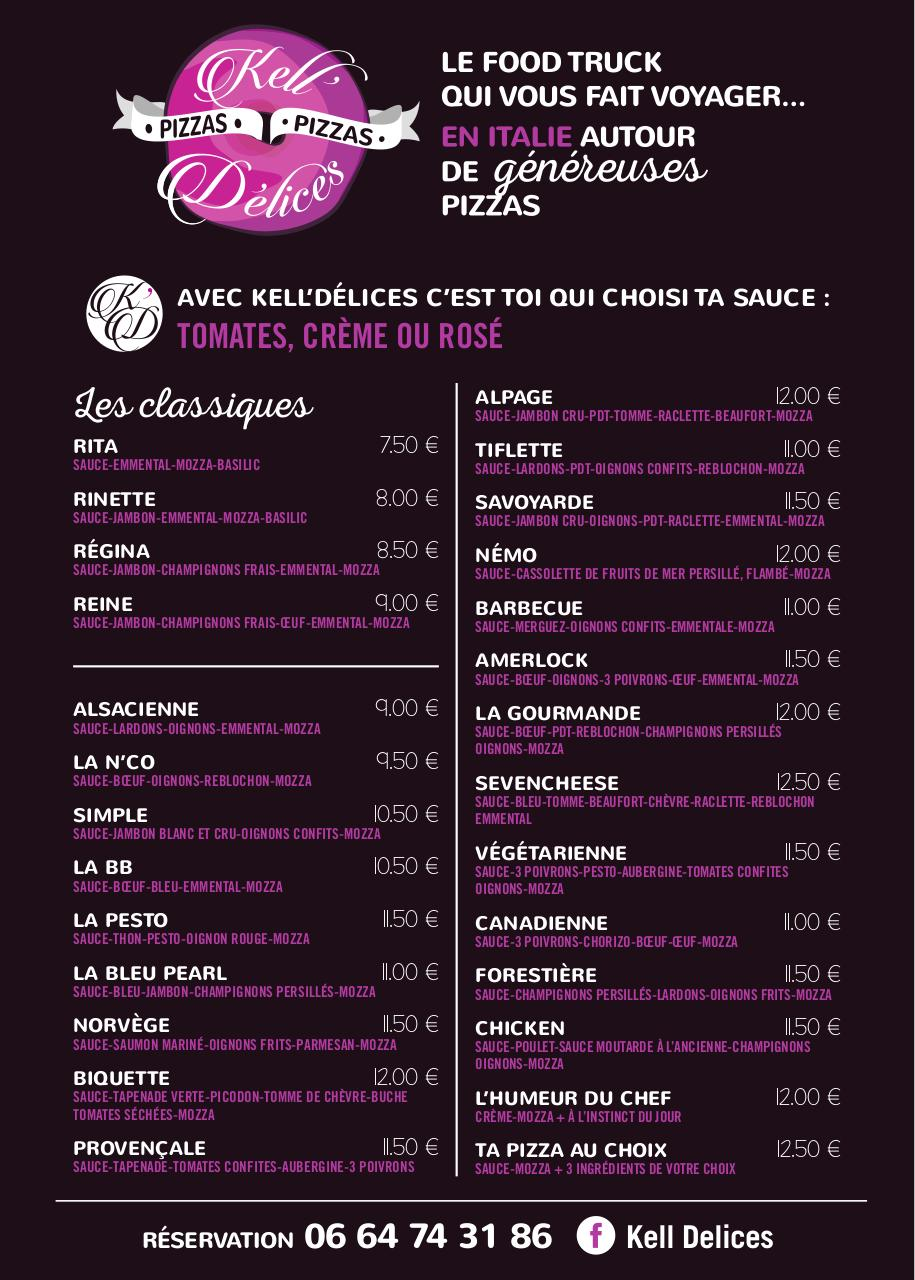 Aperçu du document Kell'Délices-CARTE PIZZAS-2016.pdf - page 1/1