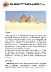 programme sejour egypte