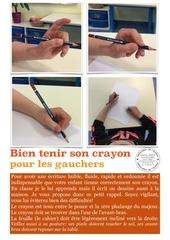 tenue de crayon pour gaucher