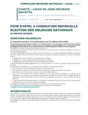 appel a candidatures delegues nationaux