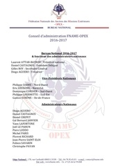 conseil d administration fname opex 2016 2017