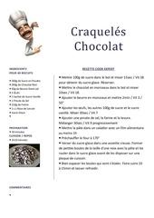 craqueles chocolat