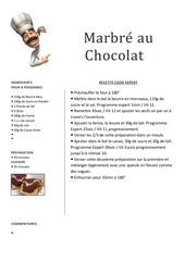 Fichier PDF marbre chocolat