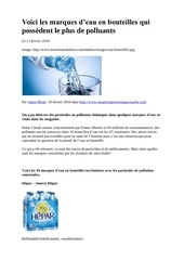 marques d eau avec polluant