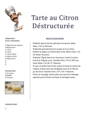 Fichier PDF tarte citron