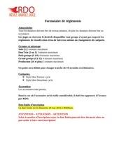 formulaire de reglements et d inscription