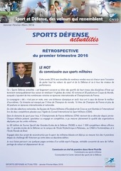 sports defense actualites 1er trimestre2016