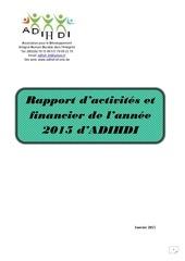 rapport d activites 2015 adihdi