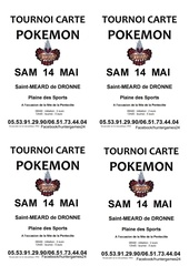 affiche simple carte pokemon