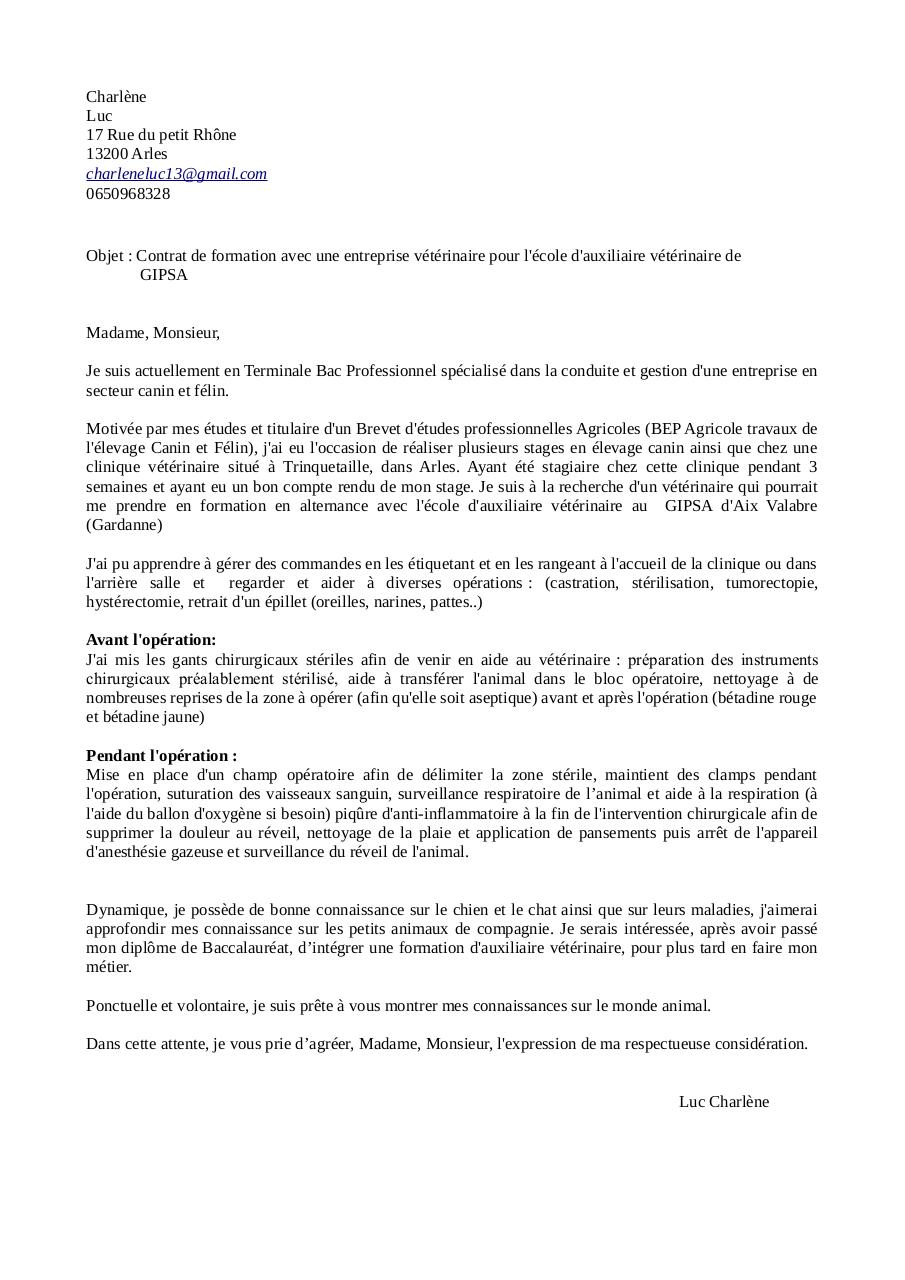 lettre de motivation site asv  lettre de motivation site