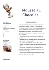Fichier PDF mousse au chocolat