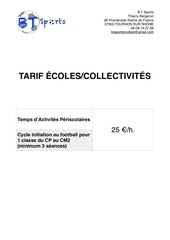 tarifs e coles et collectivite s