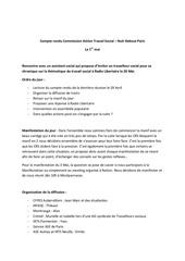 compte rendu commission action travail social
