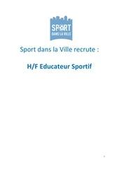Fichier PDF recrutement educateurs sportifs sport dans la ville