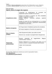 Fichier PDF option usages des espaces