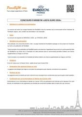reglement jeu concours pbm euro 2016