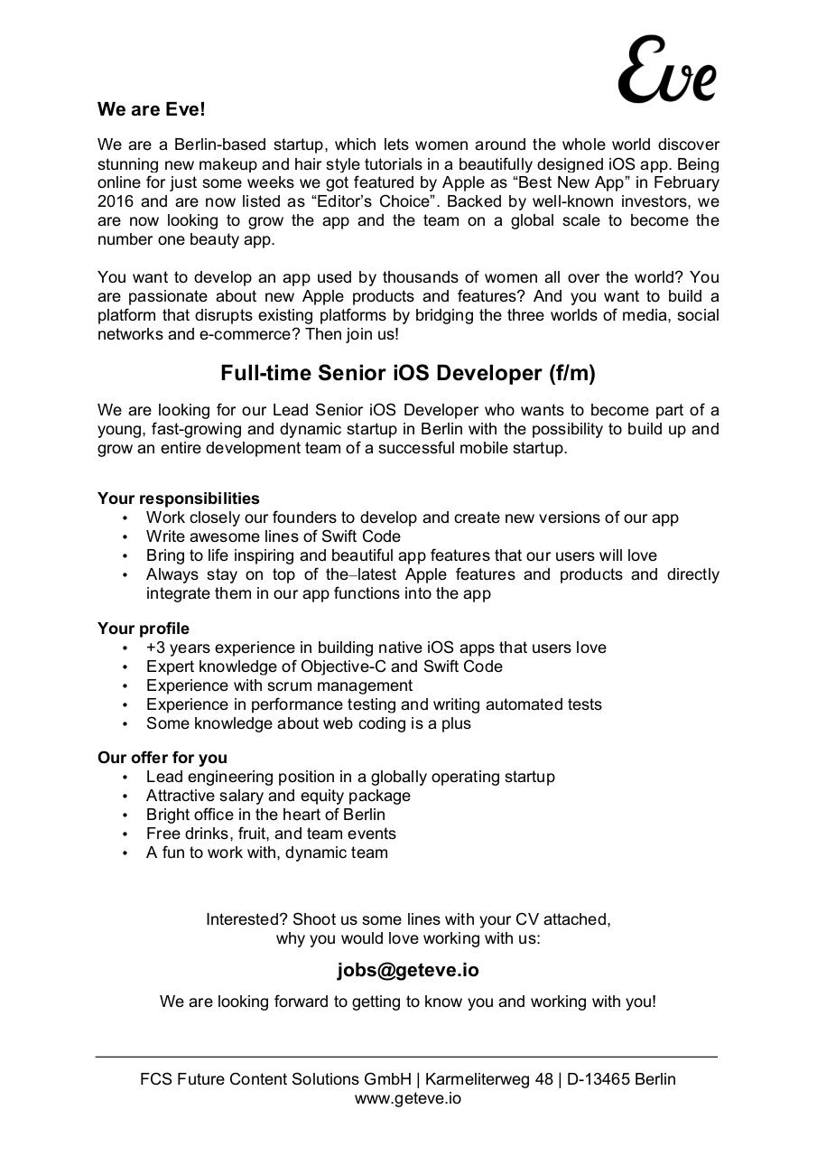 senior ios developer senior ios developer pdf