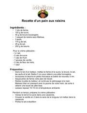 recette d un pain aux raisins melissa fruits secs